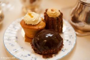 Vegan cakes at the Ritz