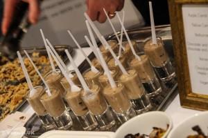 Banana shots, courtesy of Bread Street Brasserie