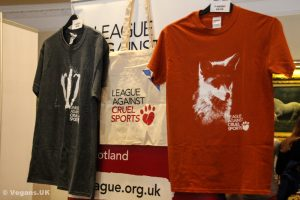 T-shirts from The League Against Cruel Sports