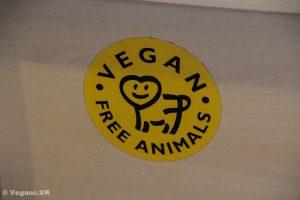 A welcoming sign in Vegan Come Koala